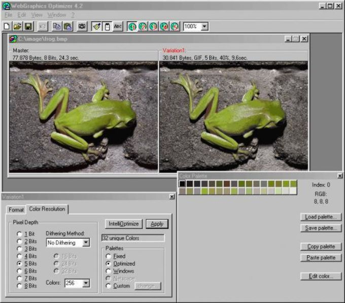 WebGraphics Optimizer