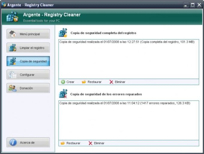 Argente - Registry Cleaner