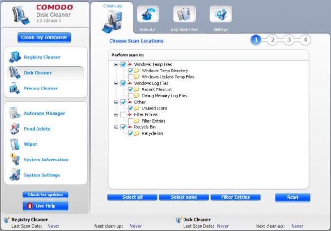 Comodo System Cleaner