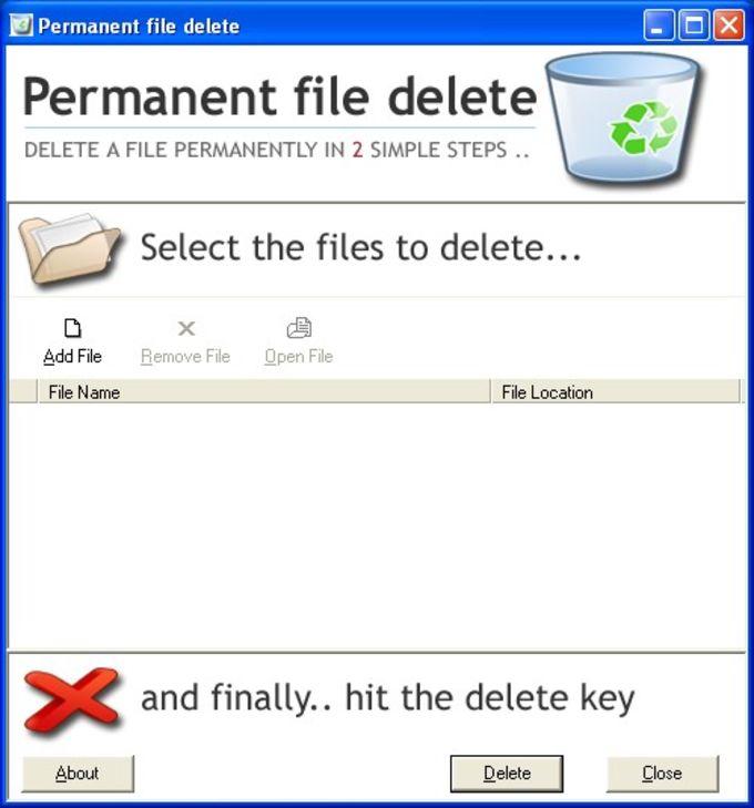 Permanent File Delete