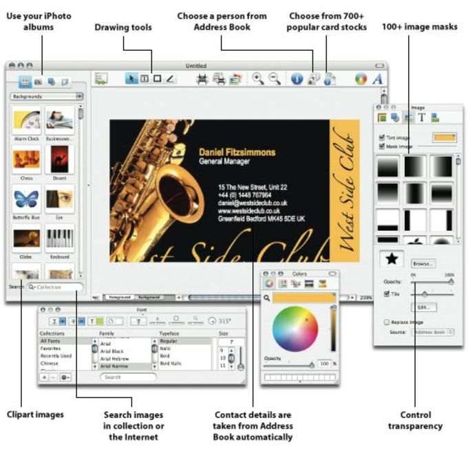 Business Card Composer