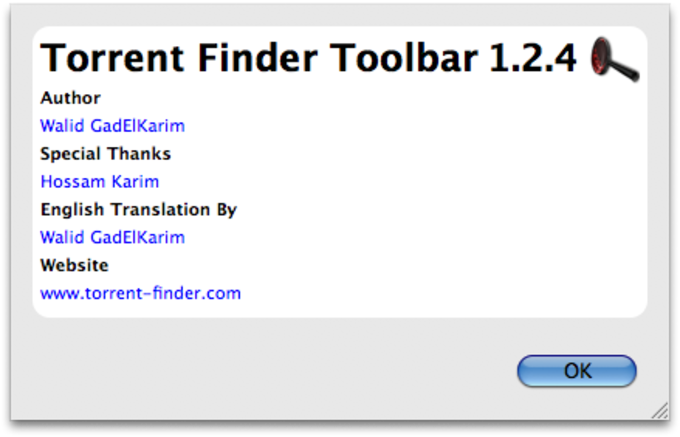 Torrent Finder Firefox Toolbar