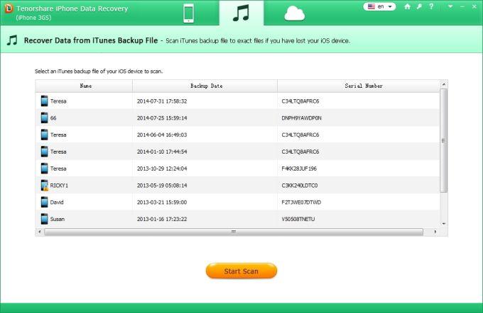 Tenorshare iPhone 3GS Data Recovery