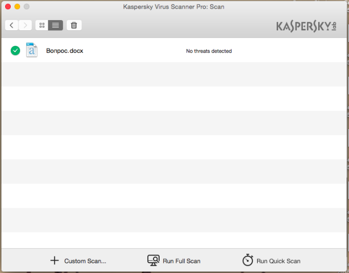 Kaspersky Virus Scanner Pro for Mac