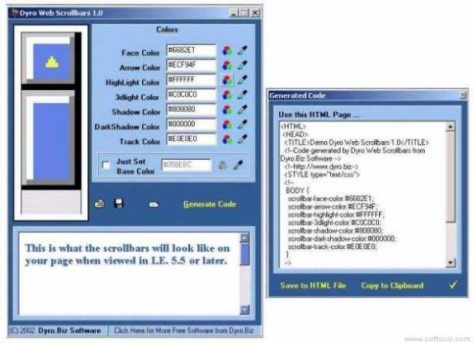Dyro Web Scrollbars