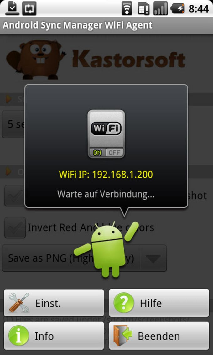 Android Sync Manager WiFi Agent