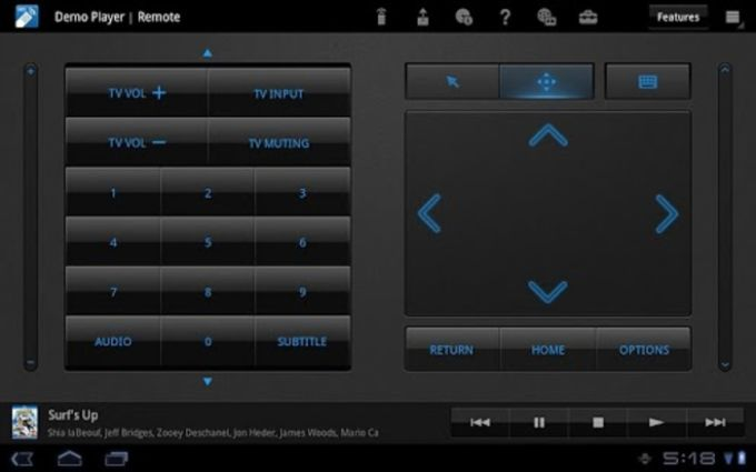 Media Remote for Tablet