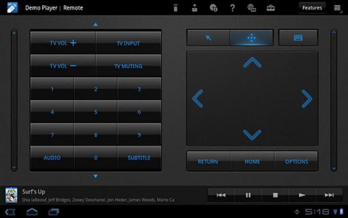 Media Remote for Tablet