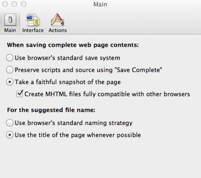 Mozilla Archive Format
