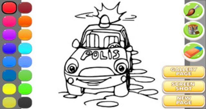 Police Car Coloring Book