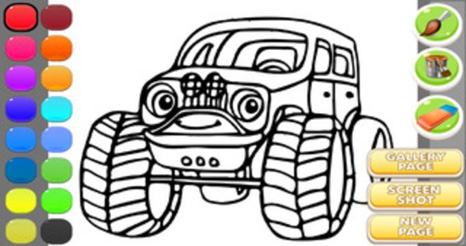 Monster Car Coloring Game