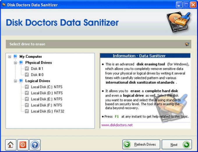 Disk Doctors Data Sanitizer