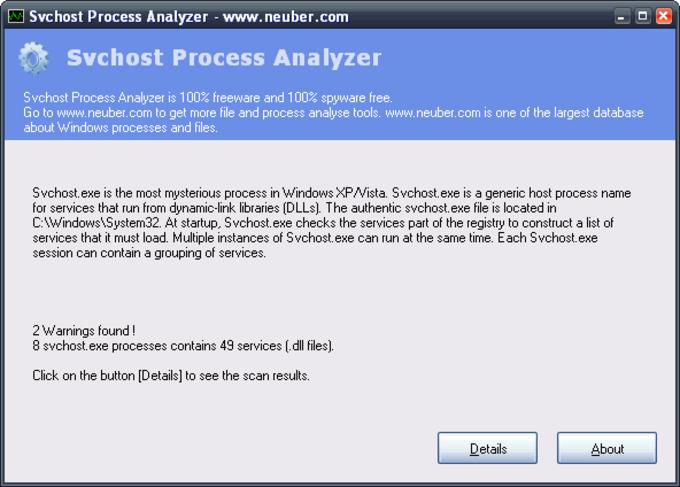 Svchost Process Analyzer