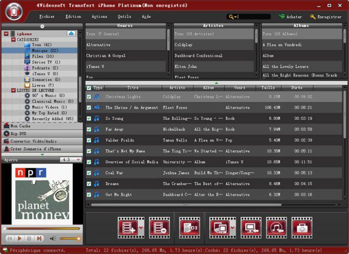 4Videosoft Transfert iPhone Platinum