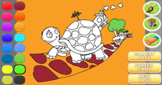 Tortoise Coloring Book