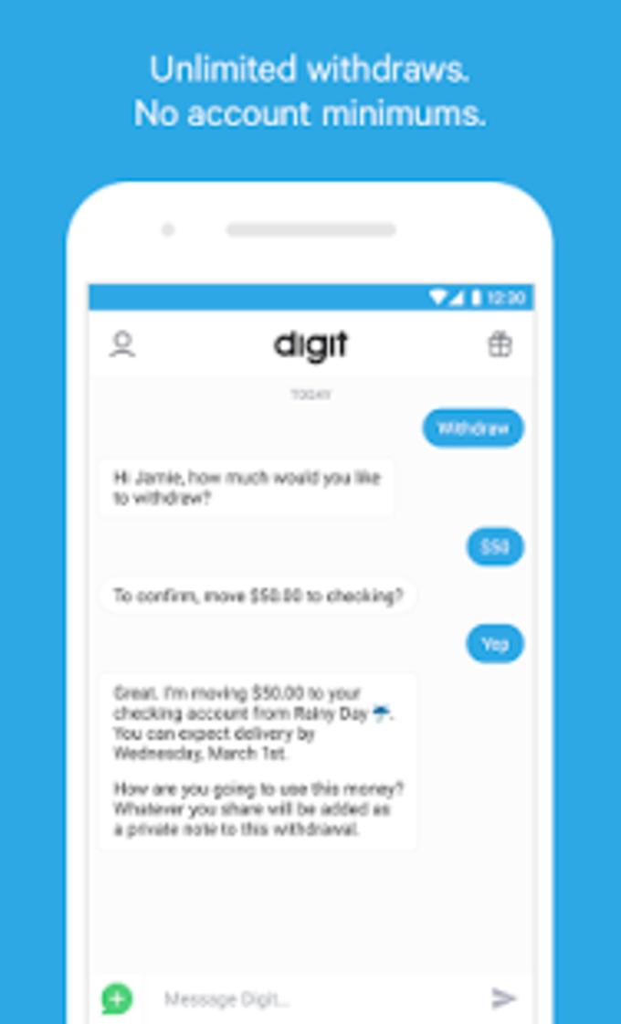 Digit Save Money Automatically