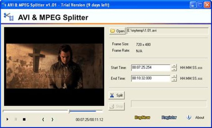 AVI/MPEG/RM/WMV Splitter