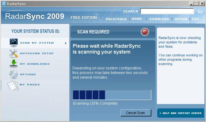 Radarsync 2009 review.