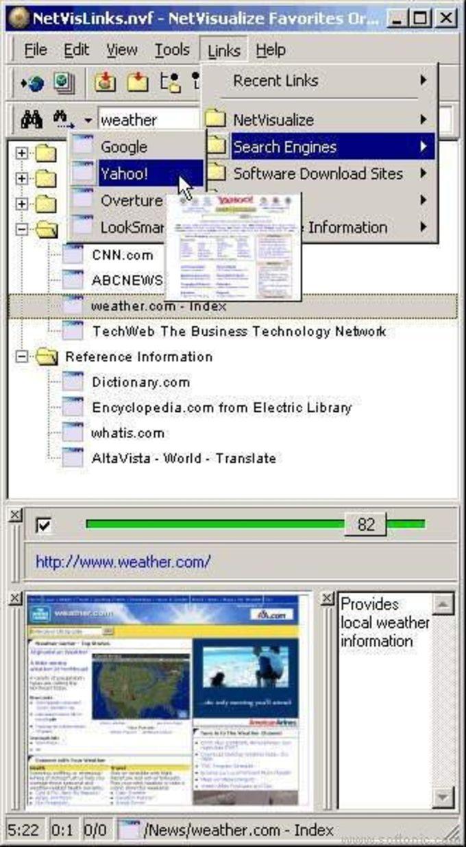 NetVisualize Favorites Organizer