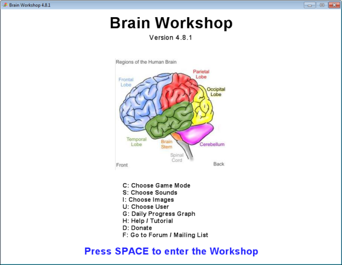 Brain workshop download improve your memory through recall games brain workshop ccuart Image collections