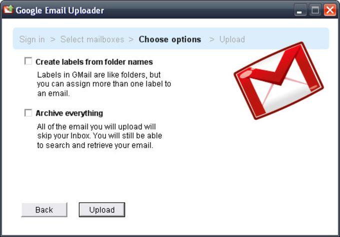 Google Email Uploader