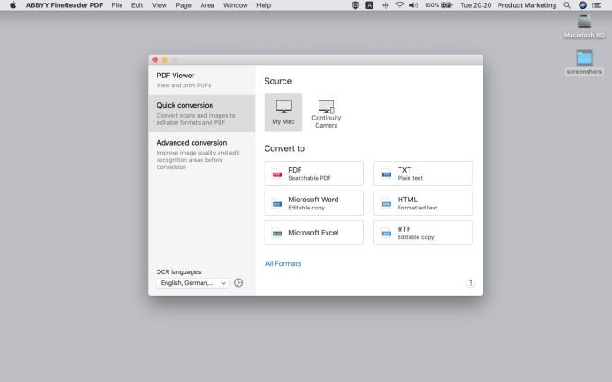 ABBYY FineReader PDF for Mac