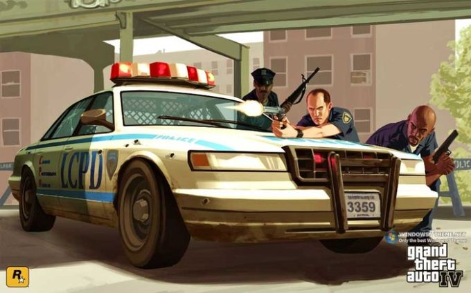 Grand Theft Auto Windows 7 Theme