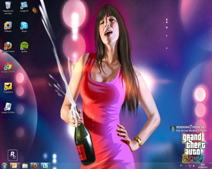 Tema di Grand Theft Auto per Windows 7