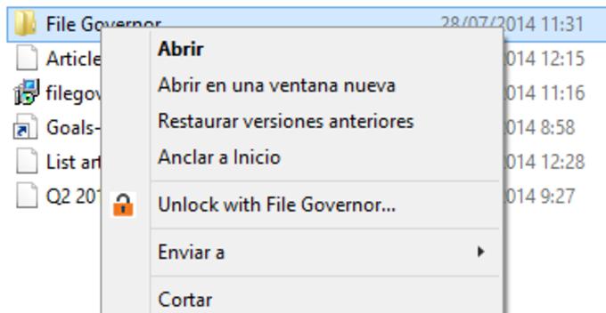 NoVirusThanks File Governor