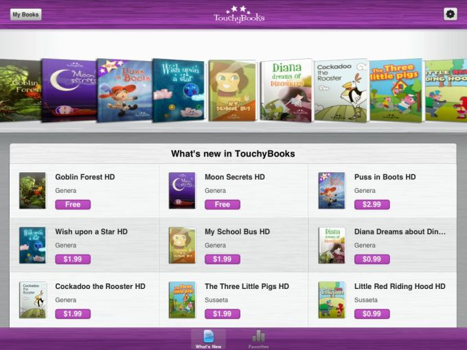 TouchyBooks HD for Kids