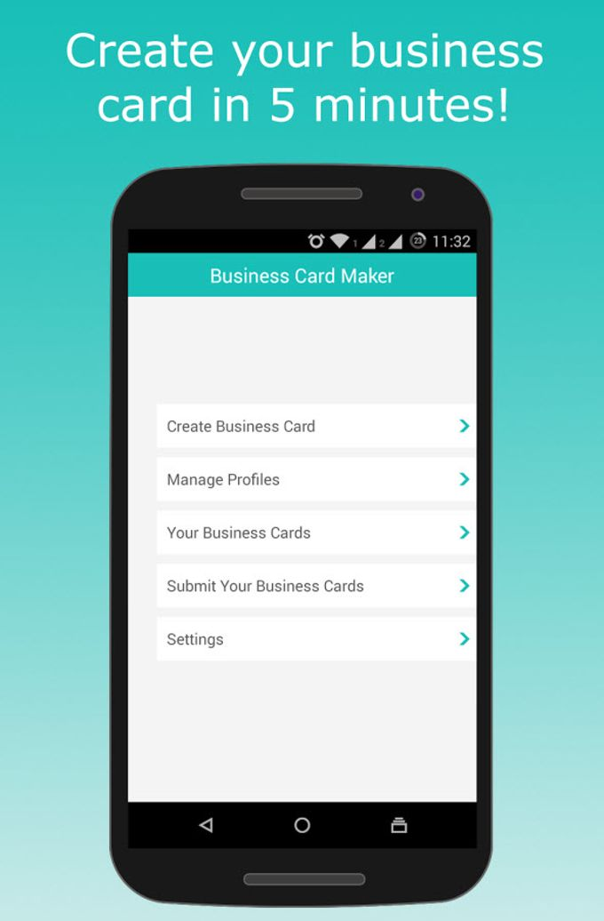 Business card maker for android download business card maker reheart Image collections