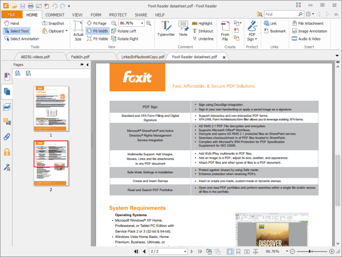 free download foxit reader latest version for windows 7