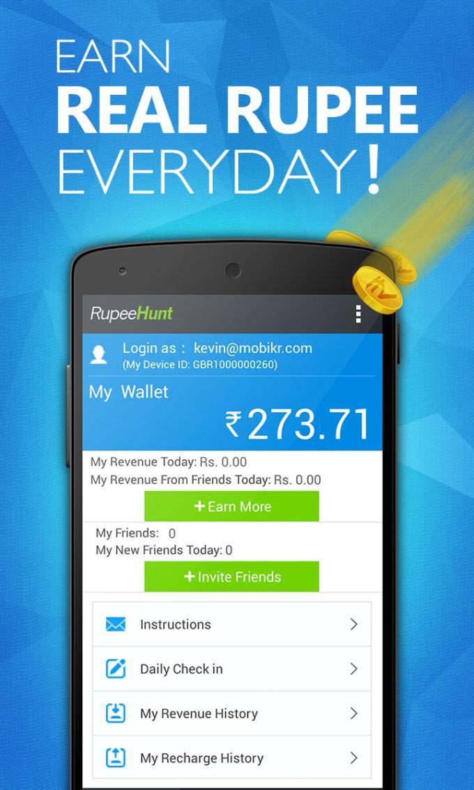 RupeeHunt - Get Real Rupee