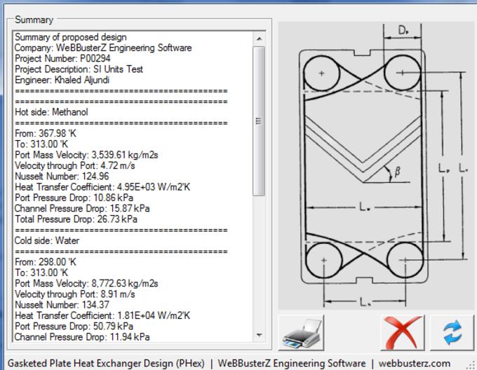 Gasketed Plate Heat Exchanger Design (PHex)