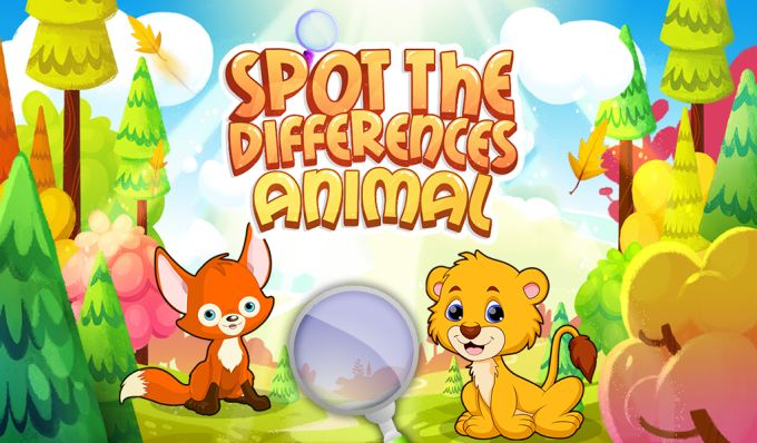 Spot The Differences Animal