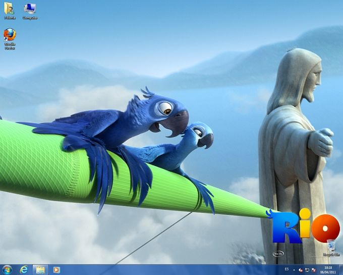 Motyw Windows 7 z filmu Rio