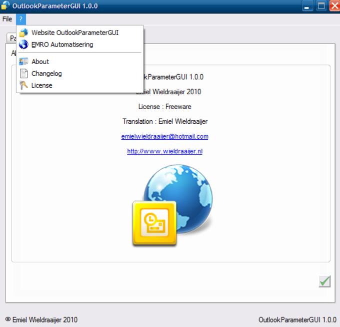 OutlookParameterGUI