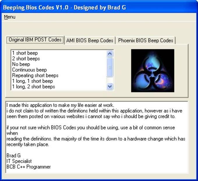 Beeping Bios Codes