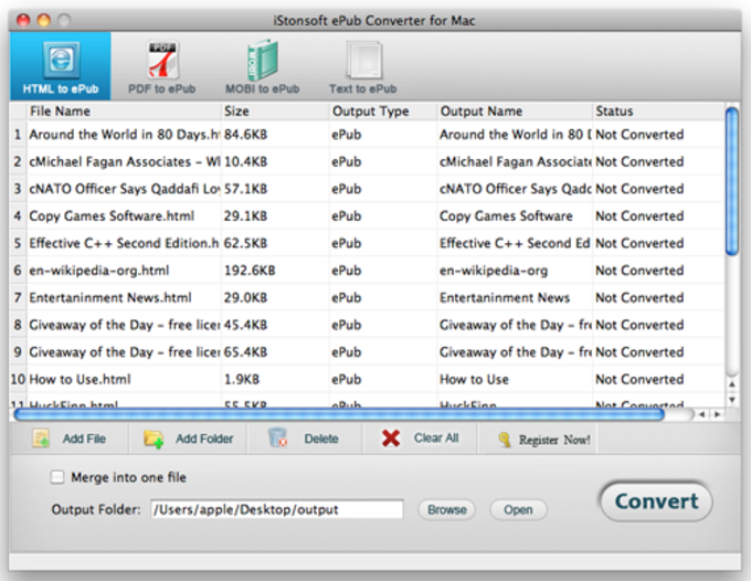 iStonsoft ePub Converter for Mac
