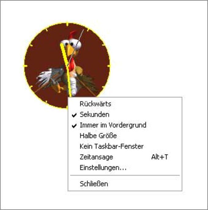 Moorhuhn-Uhr