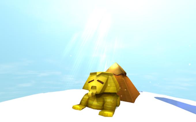 Egyptian Sphinx  Pyramid 3D