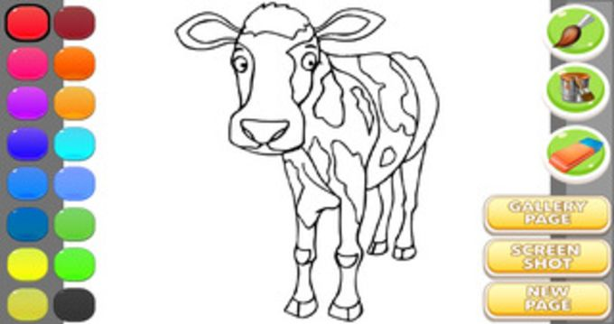 Coloring Book Cow