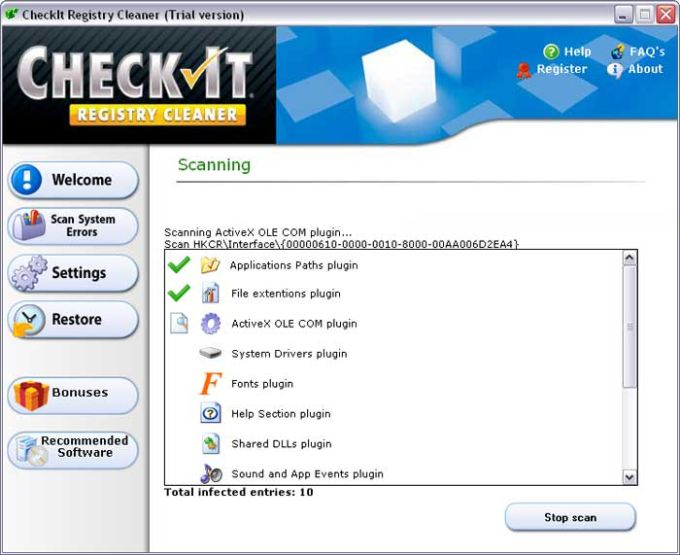 CheckIt Registry Cleaner