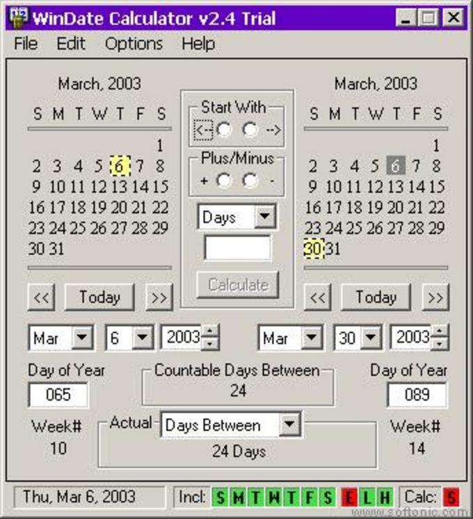 WinDate Calculator