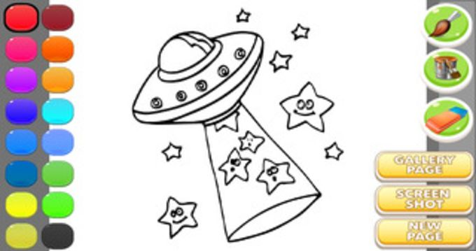 Ufo Coloring Game