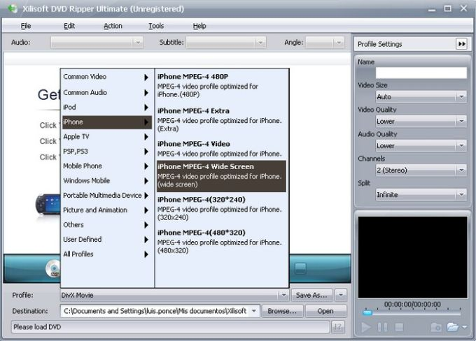 Xilisoft DVD video ripper
