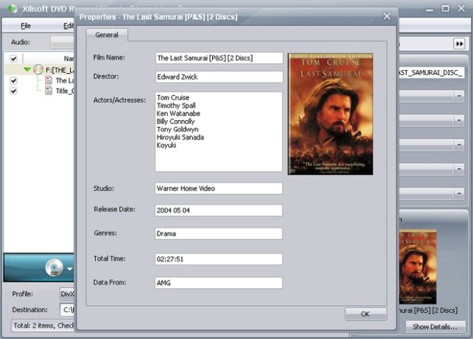 Xilisoft DVD video ripper