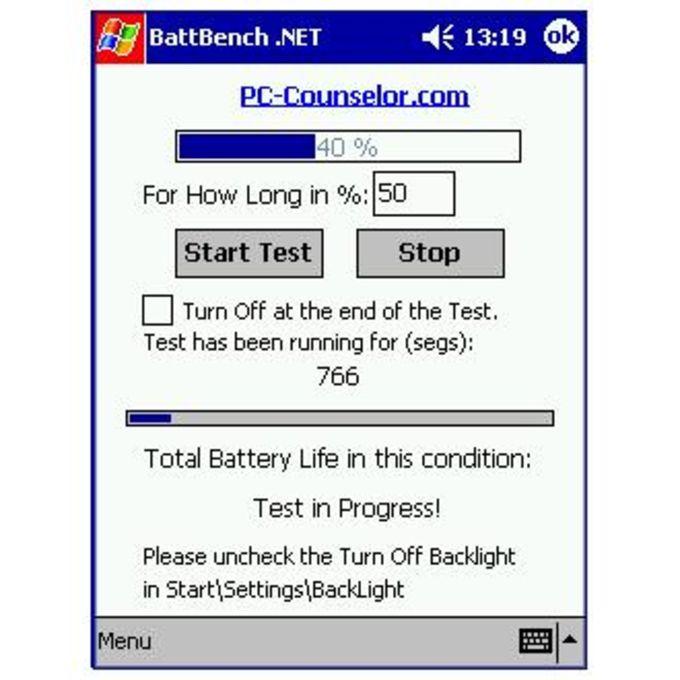 BattBench .NET