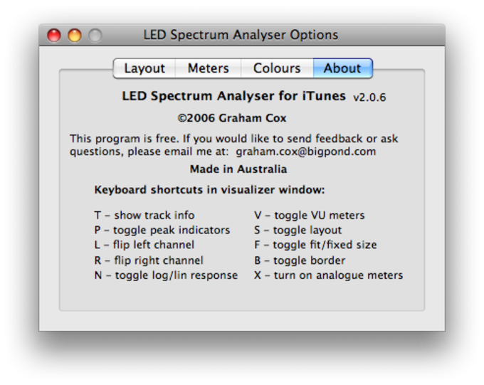LED Spectrum Analyzer plug-in pour iTunes