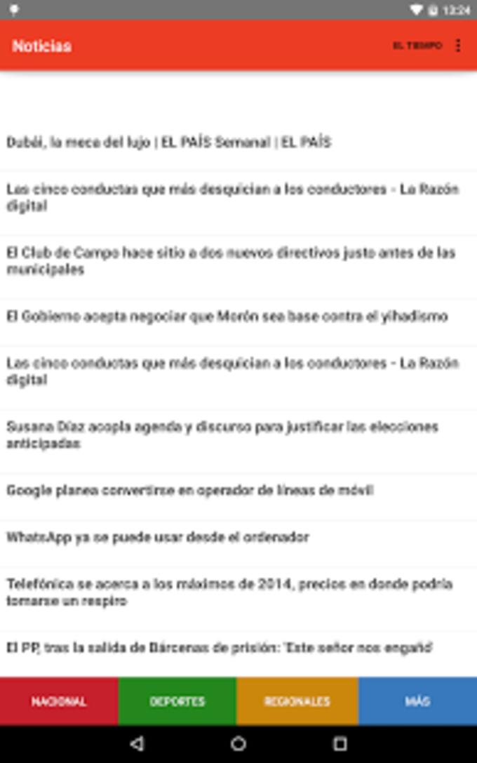 Noticias España y Tiempo
